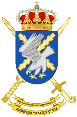"""Escudo de Armas de la Brigada """"Galicia"""" VII"""