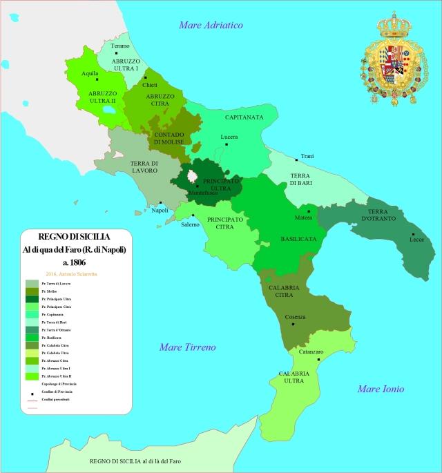 Mapa del Reino de Napoles