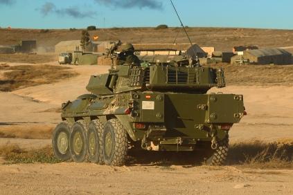 En diciembre de 2016, el Regimiento Farnesio cedió sus carros de combate Leopardo para ser equipado con el vehículo italiano Centauro 8x8. © Carlos Molero