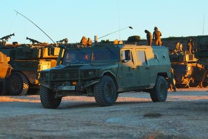 Cada escuadrón ligero acorazado cuenta con una sección de observación, equipada con vehículos de alta movilidad táctica (VAMTAC). © Carlos Molero