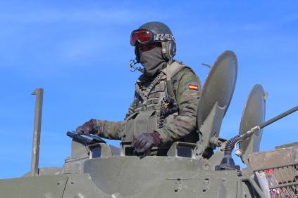 """""""Lince"""", jefe de pelotón del 2º Escuadrón Ligero Acorazado. © Carlos Molero"""