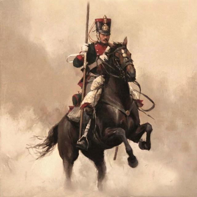 Jinete del Regimiento de Numancia, 14º de Caballería 14 cm ancho