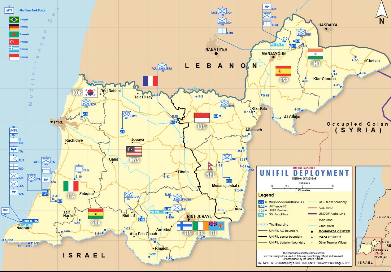 UNIFIL map