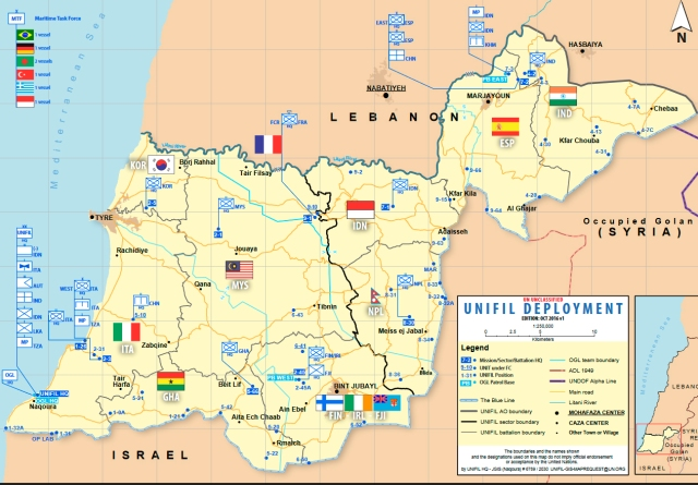 UNIFIL map