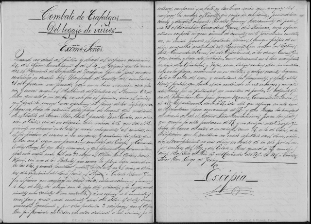 Carta del coronel Jose Manso