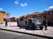 """24 de marzo. Patrulla en la entrada a la localidad de Santovenia de Pisuerga (Valladolid) © RC """"Farnesio"""" 12"""