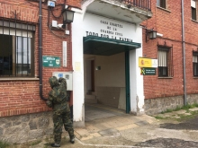 """6 de abril. Desinfección del cuartel de la Guardia Civil de Medina del Campo (Valladolid) © RC """"Farnesio"""" 12"""
