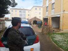 """7 de abril. Desinfección del cuartel de la Guardia Civil de Mayorga (Valladolid) © RC """"Farnesio"""" 12"""