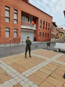 """9 de abril. Patrulla en Cabezón de Pisuerga (Valladolid) © RC """"Farnesio"""" 12"""